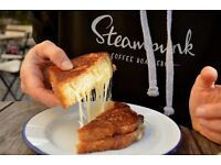 Cook/Baker at Steampunk Coffee, North Berwick