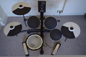 Roland TD 1KV (mesh snare) with Mapex stool + accessories