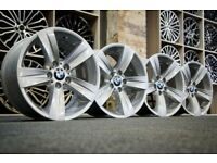 """*Refurbished* Genuine 18"""" BMW Style 189 3-Series E90 Staggered Alloy Wheels 5x120 T5/T6"""