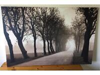 Extra Large Canvas Wall Print - tree lined avenue