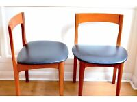 Set of 4 Vintage Nathan teak chairs. Delivery. Modern/mid century.