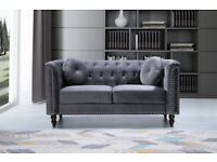 🌈 Best Furniture🌈- -Plush Velvet Florence Sofa- 3+2 Seater Set-In Grey Colors Only-Call Now