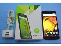 MOTOROLA MOTO X PLAY, PERFECT AS NEW CONDITION, UNLOCKED, BOXED WITH ALL ACESSORIES, CHECK PICTURES