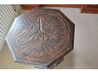 Antique Octagonal Carved Table