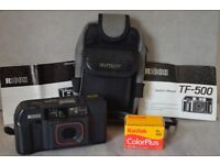 Film Photography Starter Kit - Ricoh TF-500 35mm Film Camera with Bag, Battery and Film