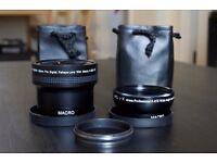 Fujifilm X100 Adapter Lenses (fisheye and wide angle)