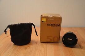 Nikon Nikkor Lens AF-S 50mm f/1.8G Immaculate Condition
