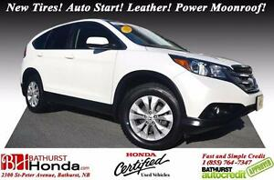 2013 Honda CR-V Ex-L Honda Certified! New Tires! Auto Start! Lea