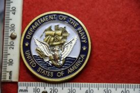 US navy 225th Birthday Ball Challenge Coin Tampa 2000