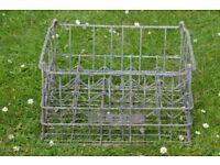 Vintage galvanised metal milk crate. MMB (milk marketing board) very sturdy in very good condition