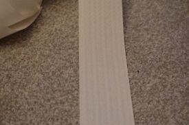 White (milk) vertical blinds