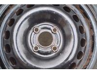 Uniroyal 185 55 15 tyres on steel wheels 4x100 Vauxhall, Chevrolet, Fiat
