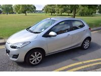 2010 MAZDA 2 1.5 TS2,ACTIVEMATIC,AUTOMATIC,SILVER,PETROL,5 DOORS,LOW MILES,ALLOYS