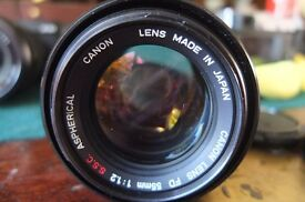 CANON 1.2 55MM SSC ASPHIRICAL LENS.PRICE DROP FROM 395.PRICE DROP,PRICE DROP.