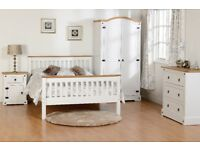 Corona white or grey furniture from £69-£499 Beds, Wardrobes, chests of drawers bedsides