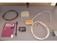 TV adaptors, cable, Vision amplifier and Labgear signal booster