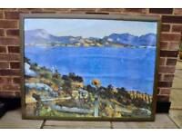 Free: Large framed landscape print