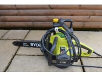 Electric Chain Saw manufactured by Ryobi and in excellent condition