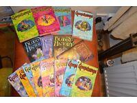 Kids books- including Jacqueline Wilson ( Tracy Beaker), R.L Stine (Goosebumps), Bloody Histories...