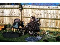 Phil & Teds Dash Double Buggy - including Phil & Ted footmuff