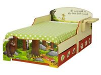 Gruffalo Toddler Bed. Excellent condition. From smoke and pet free home.