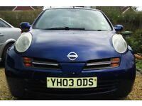 2003 (03) Nissan Micra 1.2 ltr Petrol 3dr Manual