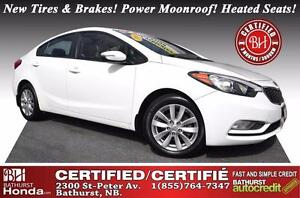 2014 Kia Forte LX Certified! New Tires & Brakes! Power Moonroof!