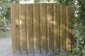 High quality custom-made solid wooden gates for driveway
