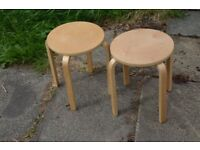 Set of 2 Ikea stools