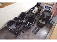 Obaby Zoom twin / double / tandem pushchair buggy system