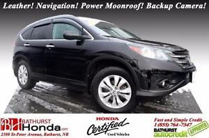 2012 Honda CR-V Touring Leather! Navigation! Power Moonroof! Bac