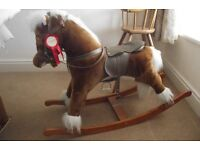Rocking horse of traditional style. Playworn but in good order.