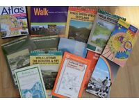 Assorted bundle of walking guides and maps