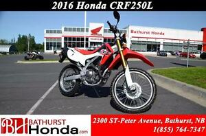 2016 Honda CRF250L Excellent performance at any RPM!! Great stab