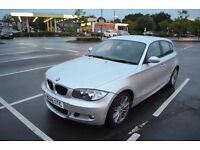 NEW TIMING CHAIN, 2009 BMW 118i 2.0 M SPORT, PETROL,AUTO,SILVER,FULL LEATHER TRIM,PARKING SNSRS