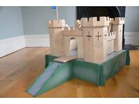 Wooden Medieval Castle and moat
