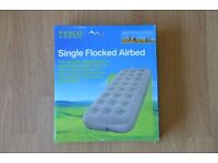 Single airbed, in box, unused