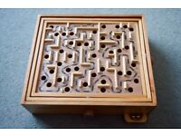 Triple Labrynth Game made of wood.