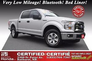 2015 Ford F-150 XLT 4WD! V8! Certified! Very Low Mileage! Blueto