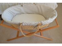 *CLASSIC MOSES BASKET* (plus mattress, two bedsheets, and frame)