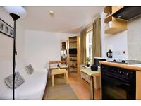 Ground floor FULLY FURNISHED studio flat-FREE WIFI and SKY TV in West Kensington