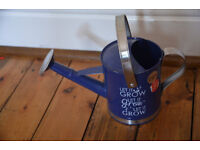 Burgon & Ball Blue Metal Indoor Watering Can Stainlesss Steel Handle Folds Down (Brand New)