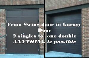 Garage High lift and swing door conversions - best prices call for free quote