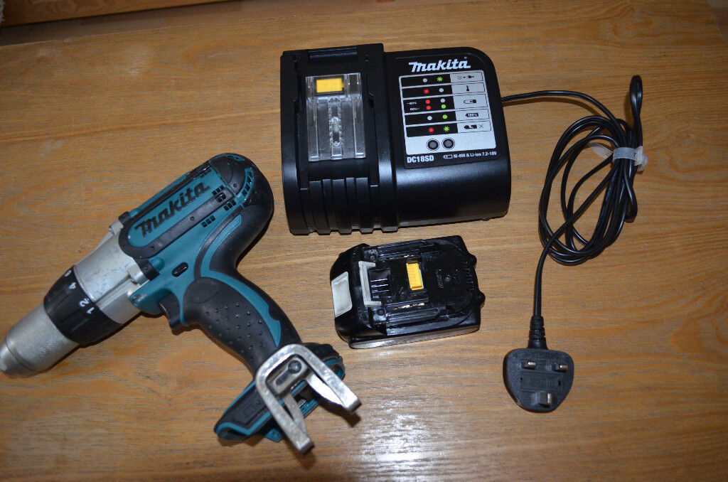 Makita BHP451 + 18V 1.3Ah battery + brand new charger