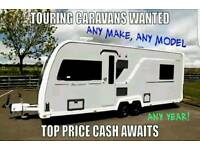 Touring caravans & moterhomes wanted top cash paid