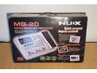 NUX MG-20 Guitar Modelling Processor Effects Pedal Drum Loops Reverb Delay USB
