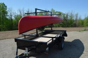 Steel Canoe Rack for Utility Trailer - Haul Up To 6 Canoes!