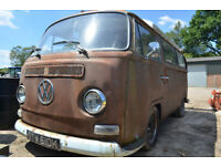 1971 Bay window VW camper in need of restoration