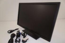 """Dell S2409W 24"""" Widescreen LCD Monitor 1920 x 1080, 5ms Response Time - Piano Black HDMI 1080P HD"""