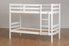 🎆💖🎆GET IT TODAY🎆💖🎆SINGLE-WOODEN BUNK BED FRAME w OPT MATTRESS